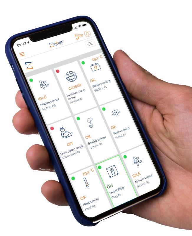 ZigBoat - kontrola przez aplikację