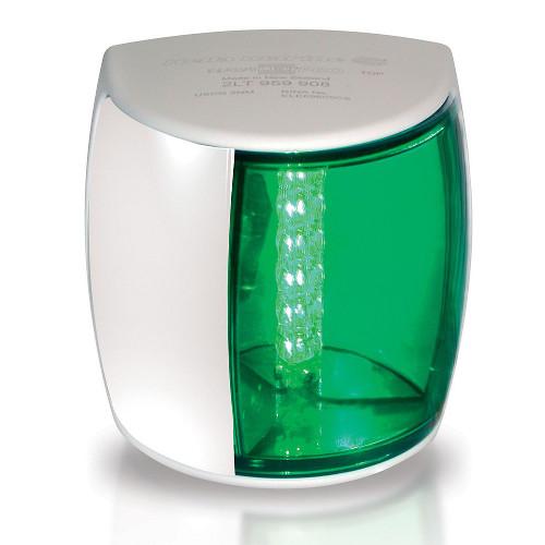 2LT 959 908-011 Lampa NaviLED PB zielona 2MM COLREG, RINA (biała obudowa)