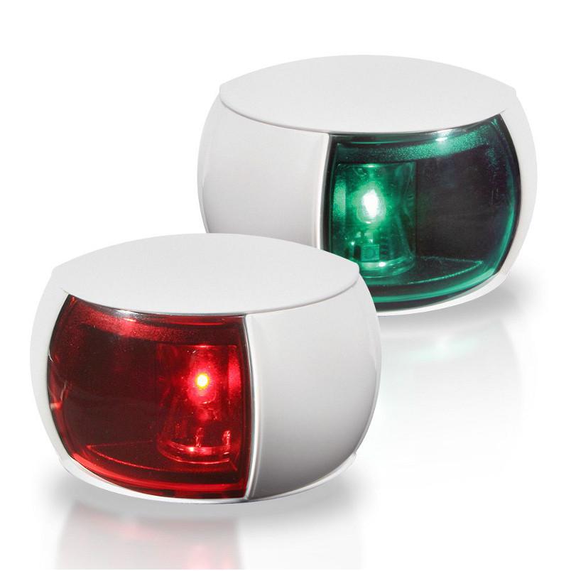 520-871 Lampy NaviLED (para) LB+PB czerw. ziel. (biała obudowa)